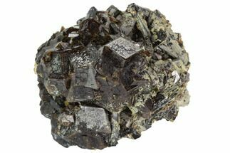 "Buy 2.2"" Garnet Cluster with Black Tourmaline (Schorl) - Pakistan - #100405"