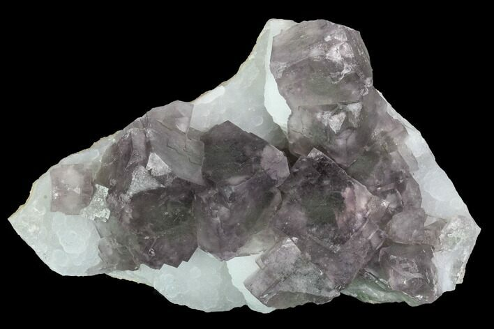 "5.4"" Purple Fluorite Crystals on Druzy Quartz - China"