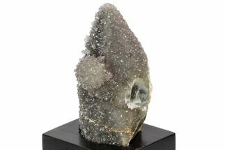 "4.5"" Amethyst Encrusted Calcite On Wood Base - Uruguay For Sale, #101363"