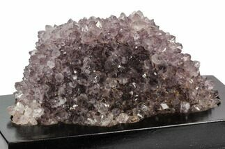 "Buy 6.1"" Wide, Purple Amethyst Crystal Cluster On Wood Base - Uruguay - #101458"