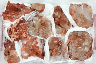 Wholesale Lot: Natural Red Quartz Crystal Clusters - 10 Pieces For Sale, #101525