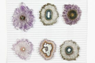 "Buy Wholesale: ~1.6"" Amethyst Stalactite Slices (6 Pieces) - #101656"