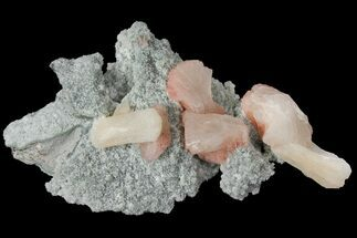 "Buy 5"" Red-Peach Stilbite on Chalcedony - India - #102409"