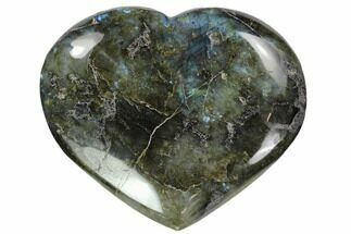"4.7"" Flashy Polished Labradorite Heart For Sale, #62948"