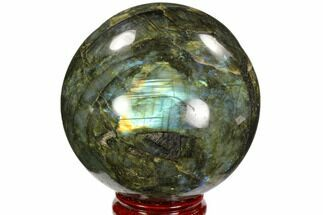 "Buy 4.4"" Flashy, Polished Labradorite Sphere - Great Color Play - #103696"