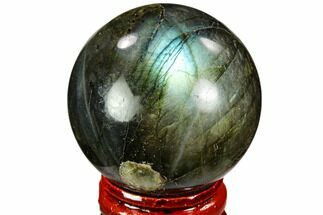 "1.65"" Flashy, Polished Labradorite Sphere - Great Color Play For Sale, #105758"