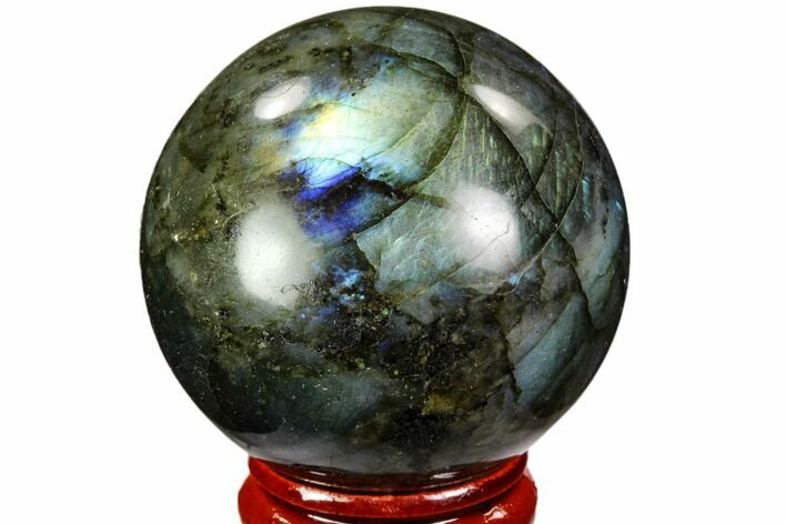 "1.8"" Flashy, Polished Labradorite Sphere - Great Color Play"