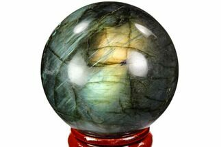 "Buy 1.8"" Flashy, Polished Labradorite Sphere - Great Color Play - #105736"
