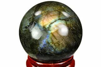 "Buy 1.4"" Flashy, Polished Labradorite Sphere - Great Color Play - #105739"