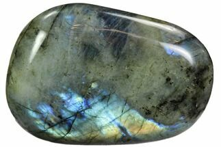 "Buy 4"" Flashy, Polished Labradorite Pebble - Madagascar - #105922"