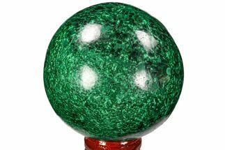 "Gorgeous 2.7"" Polished Malachite Sphere - Congo For Sale, #106265"