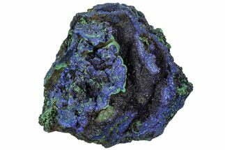 "Buy 3.4"" Sparkling Azurite Crystals With Malachite - Laos - #107197"