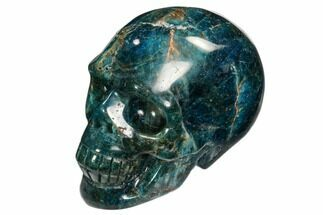 "2.4"" Polished, Bright Blue Apatite Skull - Madagascar For Sale, #107219"