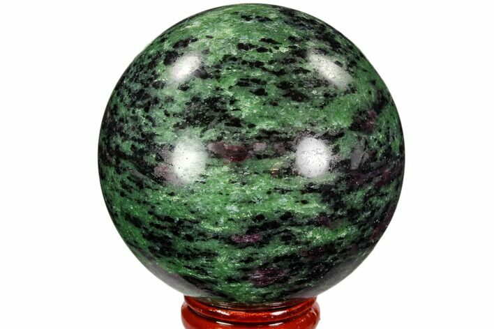 "2.5"" Polished Ruby Zoisite Sphere - Tanzania"
