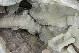 "17.3"" Prasiolite (Green Quartz) Geode With Metal Stand - Uruguay - #107716-6"