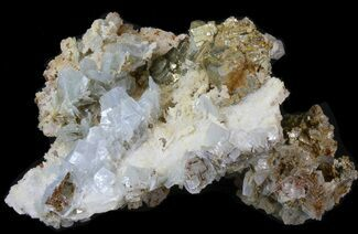"Buy 5.0"" Blue Barite, Quartz, Pyrite and Chalcopyrite - Morocco - #42220"