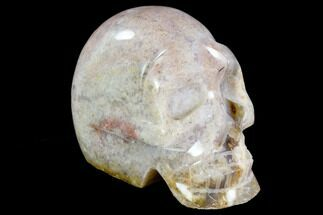 "4.5"" Polished Agate Crystal Skull - Madagascar For Sale, #108065"