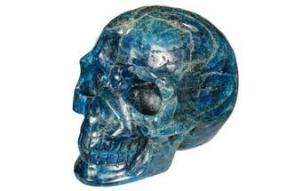 "Buy 3.3"" Polished, Bright Blue Apatite Skull - Madagascar - #108196"