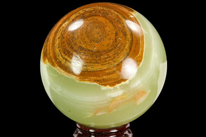 "3.35"" Polished, Green (Jade) Onyx Sphere - Afghanistan"