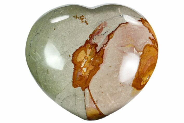 "3.9"" Wide, Polychrome Jasper Heart - Madagascar"