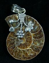 Buy Sterling Silver Ammonite Pendant  - #7063
