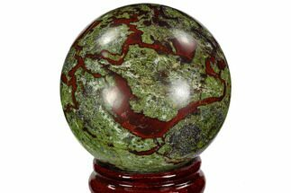 "Buy 3.05"" Polished Dragon's Blood Jasper Sphere - South Africa - #108565"