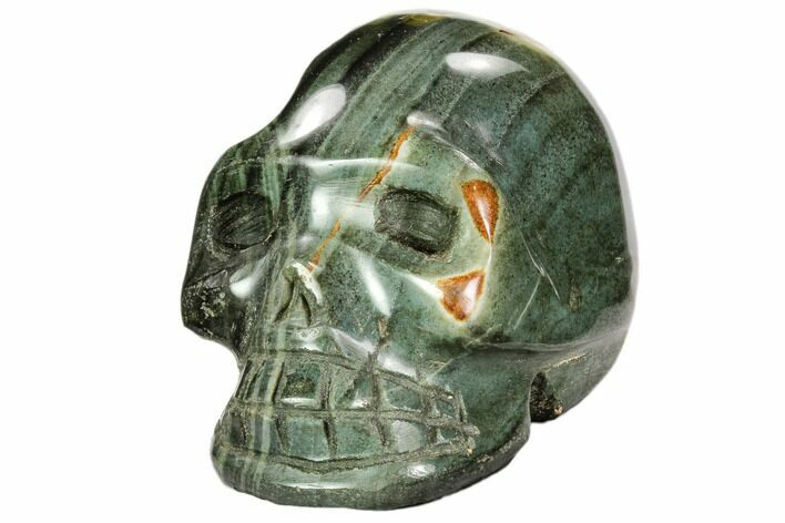 "3.9"" Polished, Polychrome Jasper Skull - Madagascar"