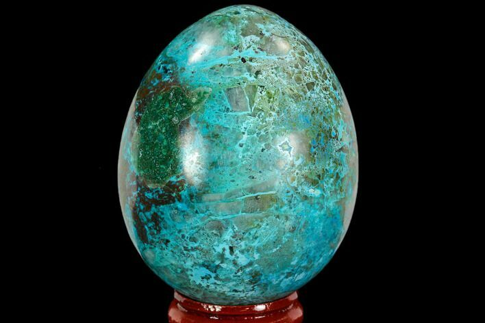 "2.5"" Polished Chrysocolla & Malachite Egg - Peru"