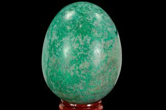 "2.6"" Polished Chrysocolla & Malachite Egg - Peru For Sale, #108806"