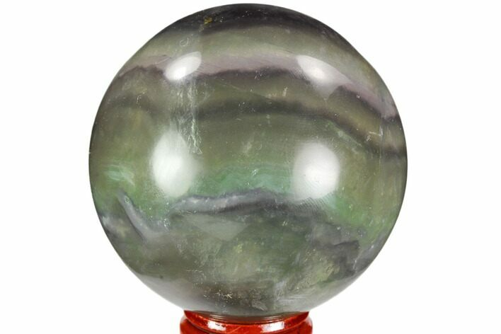 "2.65"" Colorful, Banded Fluorite Sphere - China"