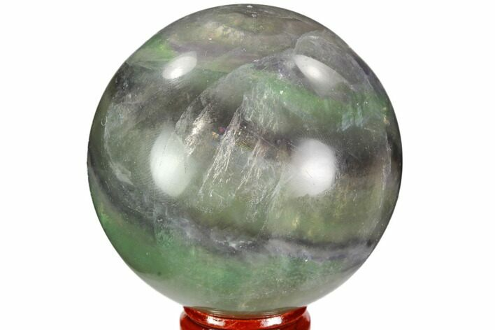 "2.7"" Colorful, Banded Fluorite Sphere - China"