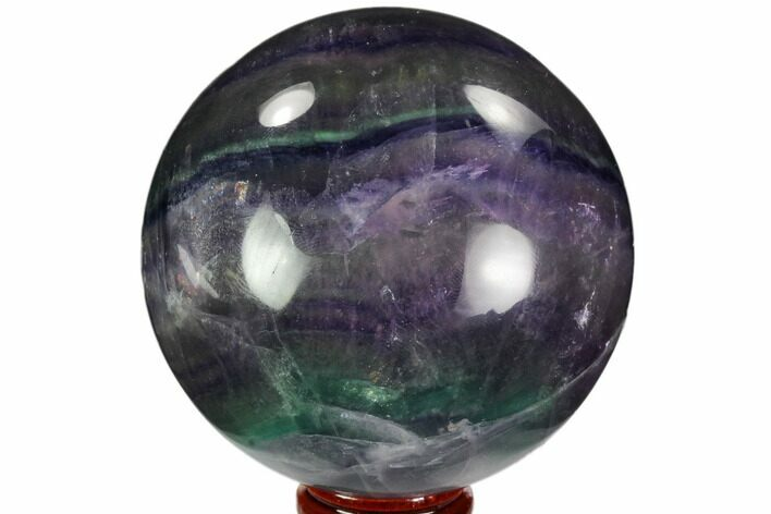 "3.1"" Colorful, Banded Fluorite Sphere - China"