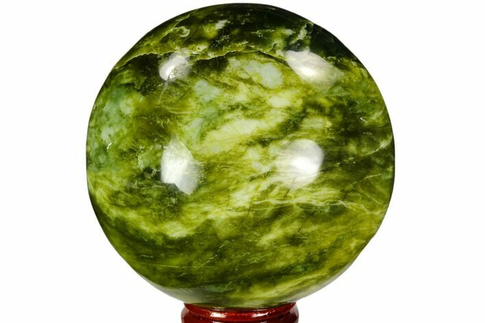 "3"" Polished Serpentine Sphere - Pakistan"