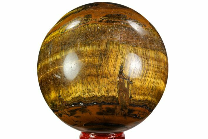 "3.2"" Polished Tiger's Eye Sphere - Africa"