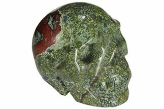 "Buy 1.3"" Polished Dragon's Blood Jasper Skull - South Africa - #110071"