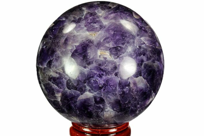 "2.3"" Polished Chevron Amethyst Sphere - Morocco"
