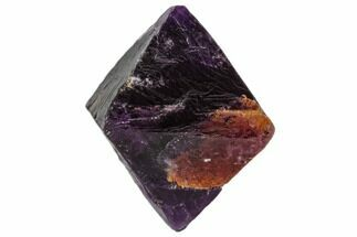 "1.7"" Purple/Green Banded Fluorite Octahedron - China For Sale, #110045"