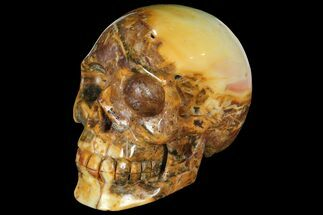 "Buy 6"" Realistic, Carved Agate Skull  - #111217"