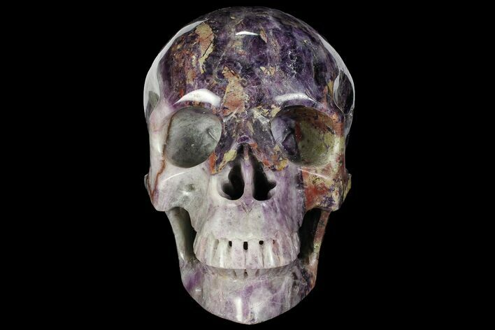 "Massive 6.8"" Carved Purple Fluorite Skull - China"