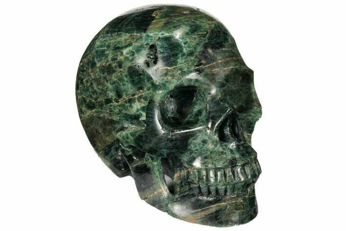 "4.8"" Polished, Bluish-Green Apatite Skull - Madagascar"