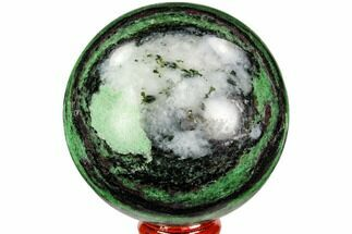 "Buy 3"" Polished Ruby Zoisite Sphere - Tanzania - #112513"