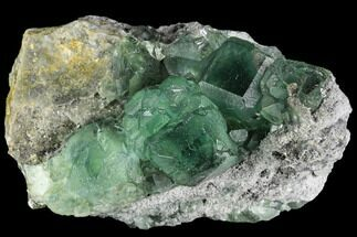 "3"" Cubic, Green Fluorite (Dodecahedral Edges) - China For Sale, #112403"