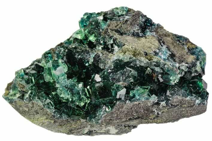 "3.5"" Green Cubic Fluorite Crystal Cluster - China"