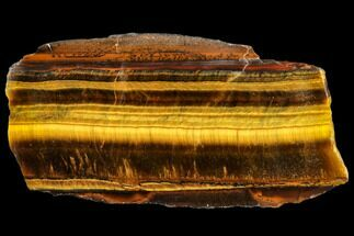 "3.7"" Polished Tiger's Eye Slab - South Africa For Sale, #112991"