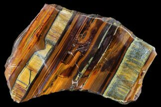 "5.1"" Polished Tiger's Iron Slab - South Africa For Sale, #113003"