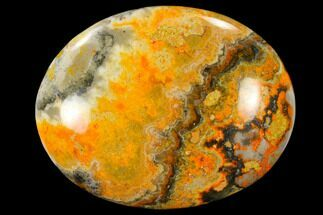 "Buy 1.9"" Polished Bumblebee Jasper Stone - Indonesia - #114637"