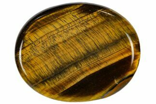 "2"" Polished Tiger's Eye Worry Stone  For Sale, #115364"