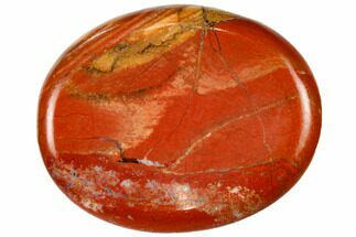 "2"" Polished Red Jasper Worry Stone  For Sale, #115376"