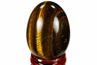 "Buy 2"" Polished Tiger's Eye Egg With Stand - #115396"