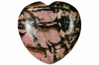 "1.6"" Polished Rhodonite Heart For Sale, #115454"